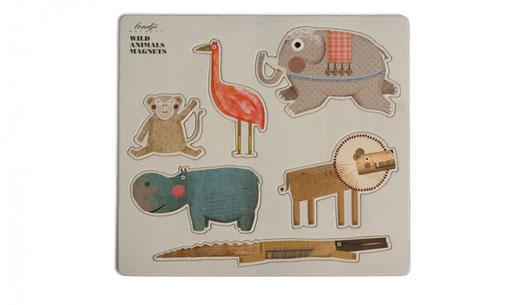 Wild Animals magneten (€7,50)