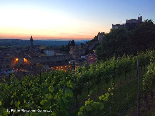 Soave Burg Italien Ed Richter Weinberge