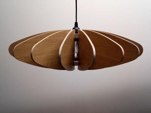 suspension luminaire bois wood lamp vintage création design