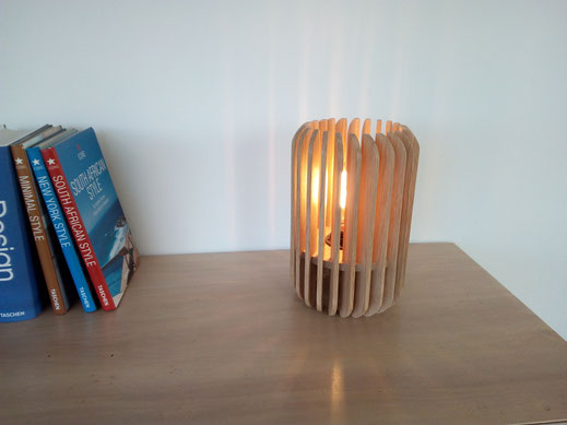 Lit chêne pied compas scandinave design création artisan ébéniste