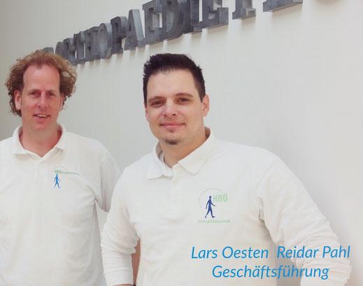 Hier sehen Sie die Geschäftsführer vom HBO-Analysezentrum in Bremen, Lars Oesten und Reidar Pahl