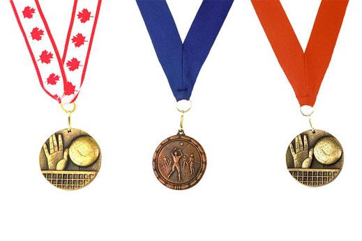 piccole medaglie sportive personalizzate per eventi con nastro