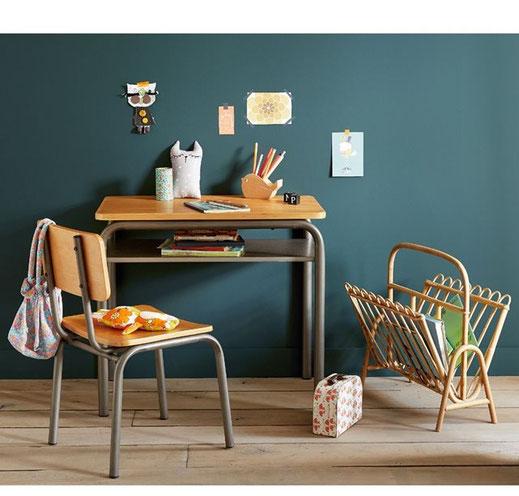 Bureau et chaise d'écolier vintage Buton, La Redoute Intérieurs