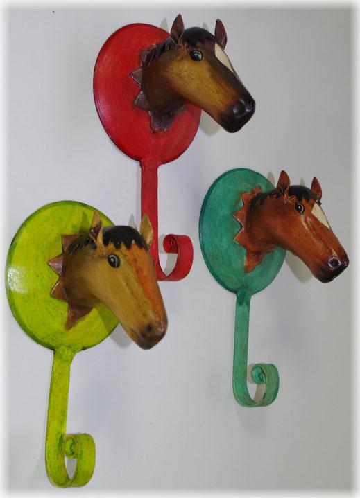Wandhaken Pferde motiv , wandhaken Tiermotiv ,pferde haken