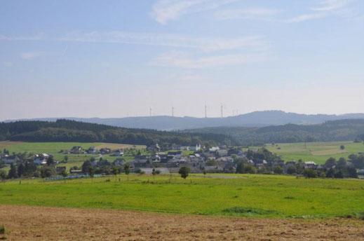 Blick von Mannebach Unterlagen Flächennutzungsplan VG Kelberg