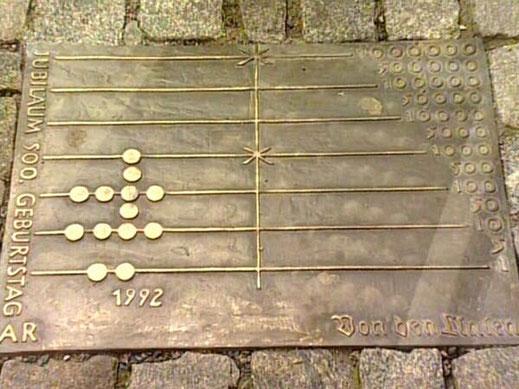 Replik Rechenbrett des Adam Ries, Deutschland etwa 1540
