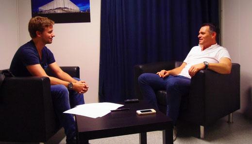 Paul Nehf im Interview mit Willy Sagnol in Bordeaux