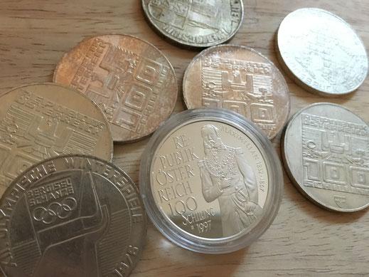 silber verkaufen, silber münze verkaufen, schilling umtauschen, 100 schilling silber wert, wo kann man silbermünzen verkaufen, silberpreis, 100 schilling wert, münzhändler in meiner nähe, münzen verkaufen, goldmünze verkaufen, 100 schilling gold wert,