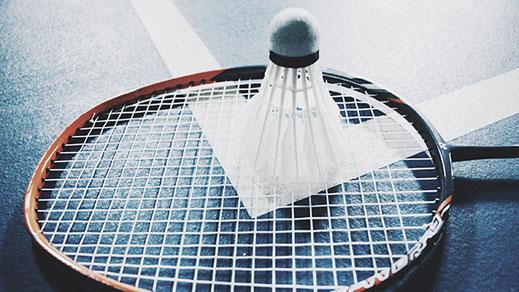 Badmintonschläger mit Federball