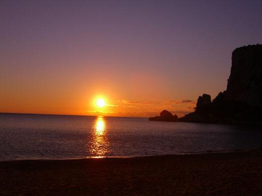 Sonnenuntergang Sardinien mit aufReisen
