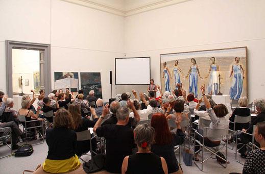 Bild der Generalversammlung 2017 des Kunstvereins Solothurn.