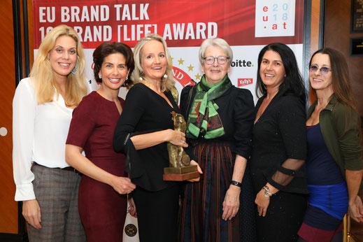 Sandra Soravia-Lepuschitz, Sonja Kato, Ulli Ehrlich, Gexi Tostmann, Renate Altenhofer, Brigitte Just, Brand Life Award, Award, European Brand Institute
