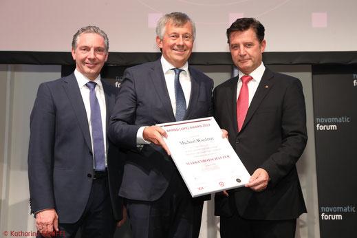 Markenbotschafter 2017, Brand Life Award 2017, BLA 2017, Michael Wiederer, EHF, European Handball Federation