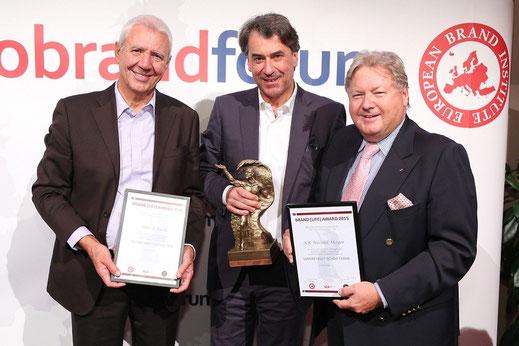 Alfred Riedl, DI Stefan Pierer, KR Harald Mayer, KTM, Brand Life Award