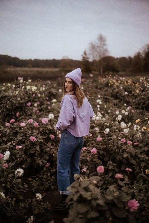 Blumenfeld Fotoshooting