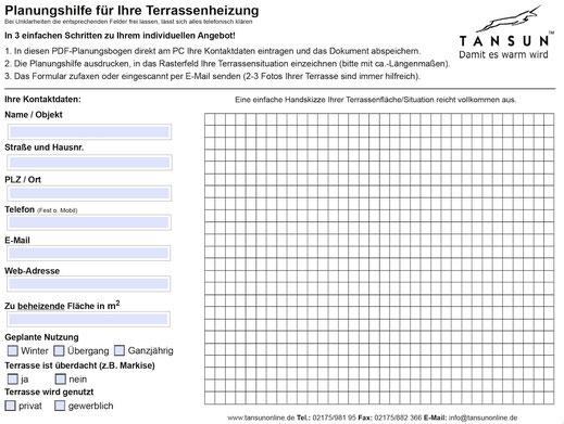 Heizstrahler Gastronomie Planung