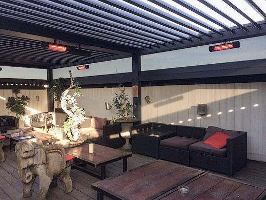 Raucher Terrasse mit Heizung