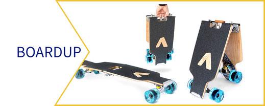 BoardUp Longboard in drei Stellungen