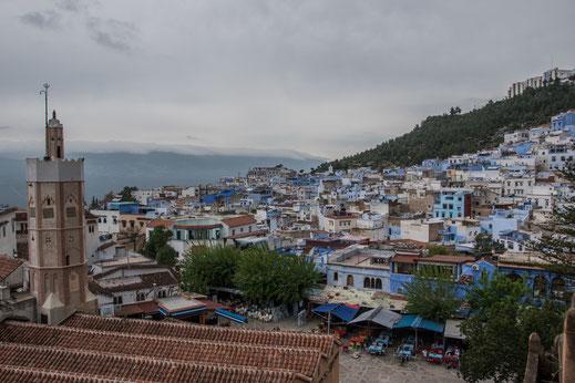 Vista sulla medina di Chefchaouen
