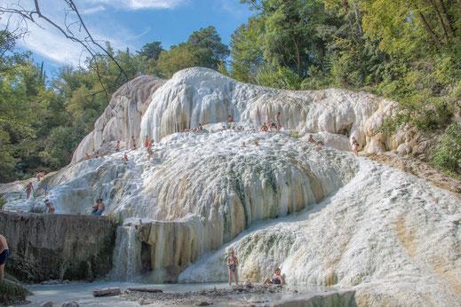 Le formazioni calcaree di Bagni San Filippo in Val d'Orcia