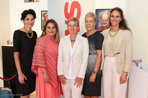 Women Leadership Forum 2016_Mag. Tatjana Oppitz, IBM Austria; Jasmin Taylor, JT Touristik; Mag. DI Dr. Brigitte Bach, AIT; DI Sigrid Oblak, Wien Holding; Dr. Irene Fialka, INiTS