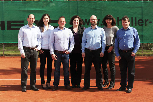Alexander Moor, Vanessa Moor, Christan Görg, Cornelia Hack, Thorsten Szarafanowicz, Sandra Ebert, Knut Heinrich Abteilungsleitung Tennis SV Neuhof