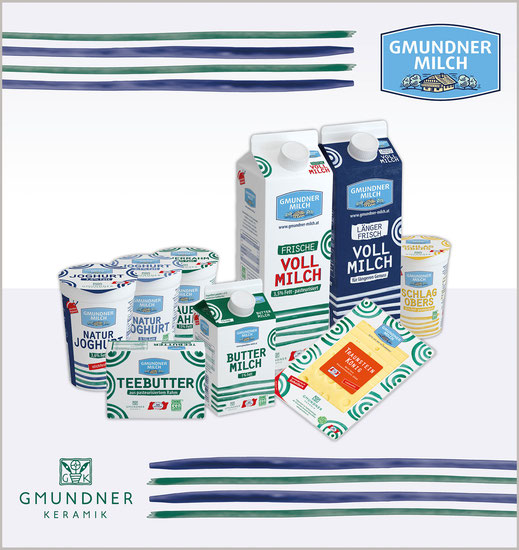 Neue Verpackung für Gmundner Milch Produkte
