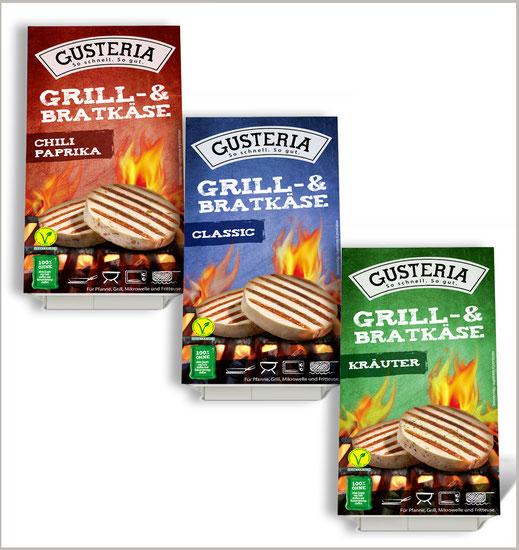 Neue Verpackung für Gusteria Grill & Bratkäse