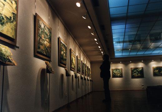 Naso González en la exposición Campos de Guadalajara