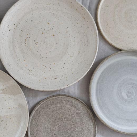 Handthrown plates