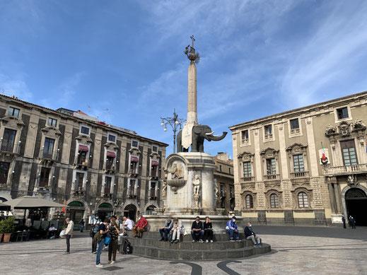 Italien, Sizilien, Elefant, Elefantenbrunnnen, Catania, Sehenswürdigkeit, Obelisk