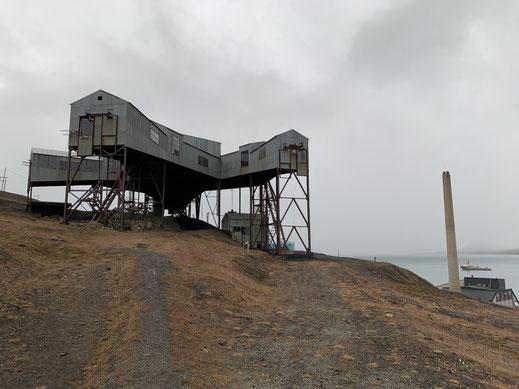 Taubanesentrale, Spitzbergen, Svalbard, Islfjord, Longyearbyen, Denkmal,