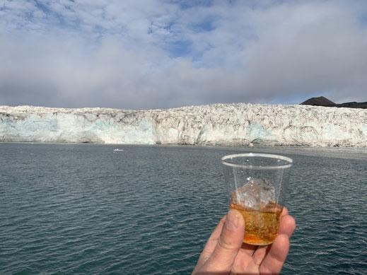Spitzbergen, Svalbard, Barentsburg, Islfjord, Whiskey, Gletschereis