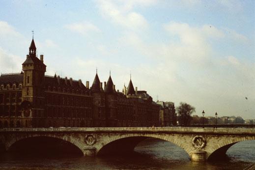 Frankreich, Paris, Brücke, Pont au Change, Seine, Conciergerie, Sehenswürdigkeit