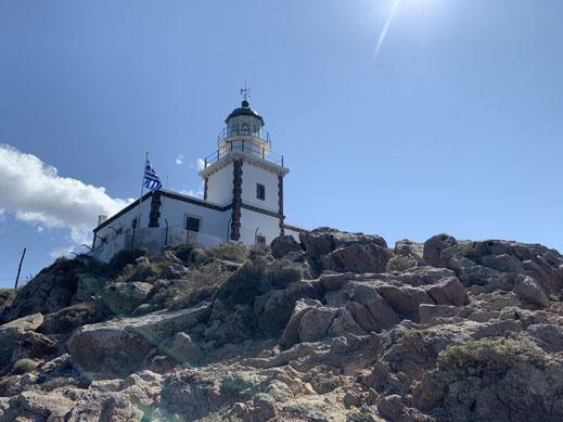 Santorini, Griechenland, Steilküste, Akrotiri, Leuchtturm, Caldera