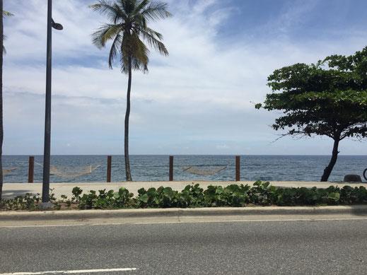 Dom Rep, Dominikanische Republik, Santo Domingo, Promenade, Malecon, Ufer, hamaca, Hängematte