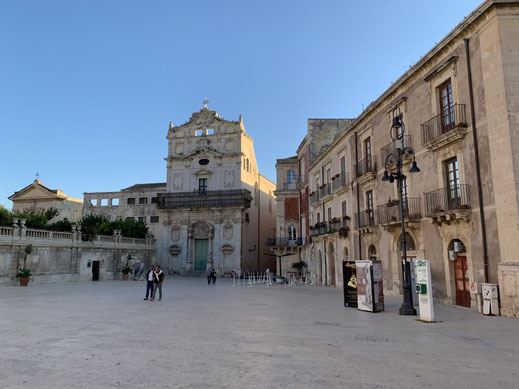 Italien, Sizilien, antike Stätte, Sehenswürdigkeit, Syrakus, Piazza Duomo, Chiesa di Santa Lucia alla Badia, Kirche