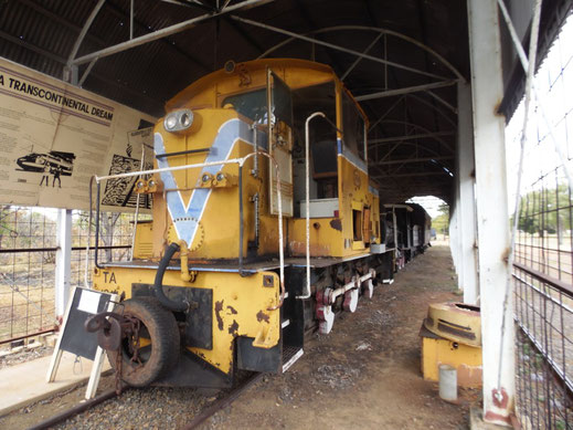 Australien, Pine Creek, Diesellok, Eisenbahn Museum