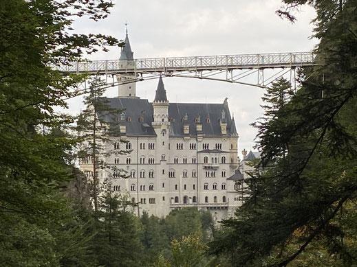 Schloss Neuschwanstein mit Marienbrücke