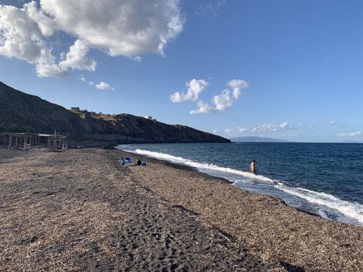 Santorini, Exo Gialos, Griechenland, Kanakari Beach