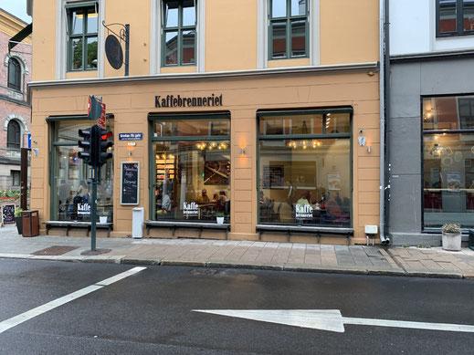 Norwegen, Oslo, Zentrum, Fußgängerzone, Kaffeebrenneriet