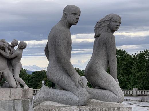 Norwegen, Oslo, Frognerpark, Vigeland Park, Skulpturen, Kunst, Bronze, Granit