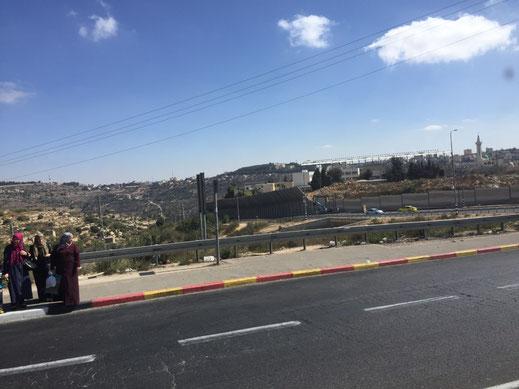 Israel, Betlehem, Grenze