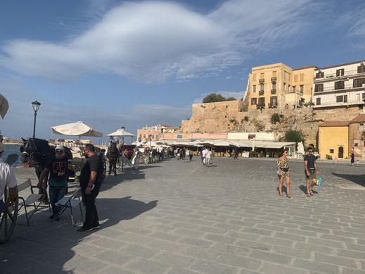 Griechenland, Kreta, Sehenswürdigkeit, Reisebericht, highlight, Urlaub, Chania, Hafen,