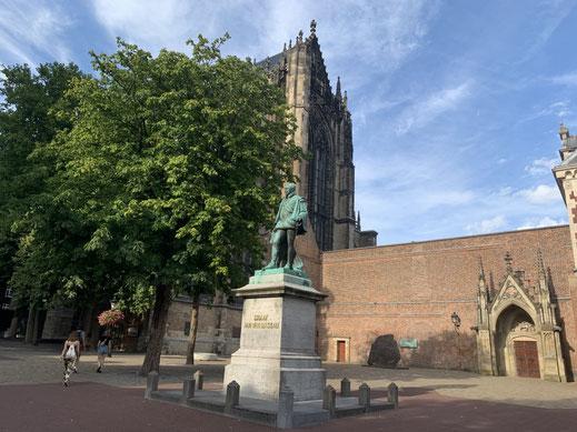 Niederlande, Holland, Utrecht, Zentrum, Grachten, Altstadt, Sehenswürdigkeit,, Dom, Domkerk
