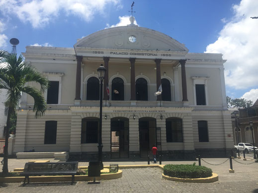 Palacio Consistorial, Dom Rep, Santiago, Altstadt, Dom Rep, Dominikanische Republik, Santiago, Zentrum, Monumento heroes