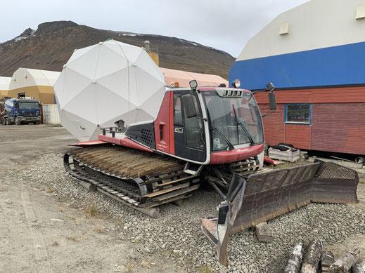 Spitzbergen, Svalbard, Longyearbyen, Schneemobil, Schneepflug