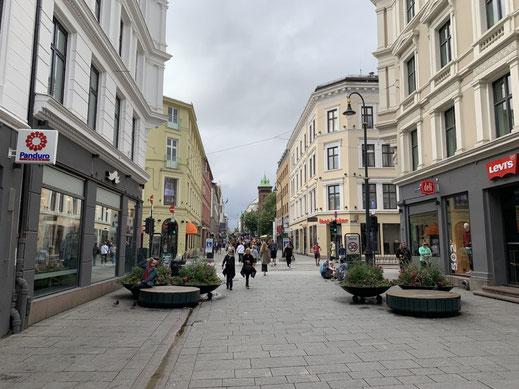 Norwegen, Oslo, Zentrum mit Dom, Fußgängerzone Oslo