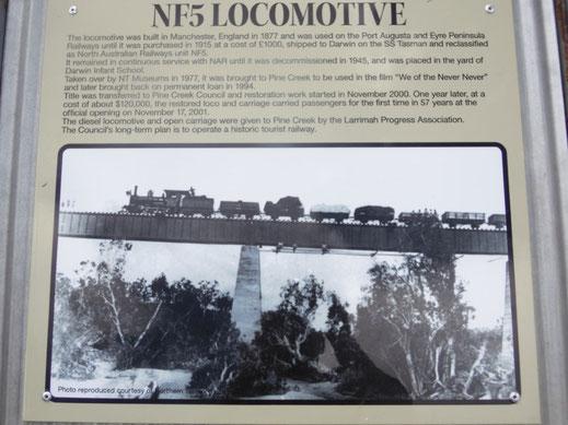 Australien, Pine Creek, Dampflok, Eisenbahn Museum