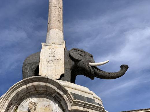 Italien, Sizilien, Elefant, Elefantenbrunnnen, Catania, Sehenswürdigkeit